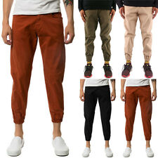 TheMogan Mens Casual Commuter Cotton Twill Chinos Jogger Fit Pants