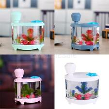 Water Mist Humidifier Aroma Diffuser Purifier Atomizer Fish Tank Shape 4 Color