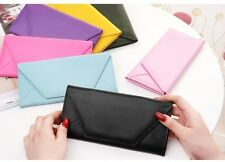 Long PU Leather Wallet Credit ID Business Card Holder Pocket Flip Purse Envelope