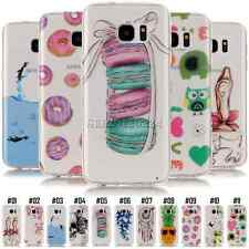 Patterned TPU Gel Soft Back For Samsung Galaxy Rubber Ultra Thin Skin Case Cover
