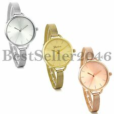 Fashion Girls Women Stainless Steel Quartz Bracelet  Ladies Dress Wrist Watch