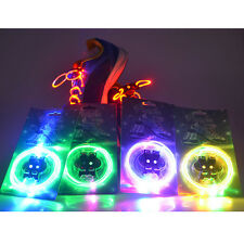 Fashion LED Light Up Shoelaces Waterproof Flash Glow Stick Party KTV Bar Disco