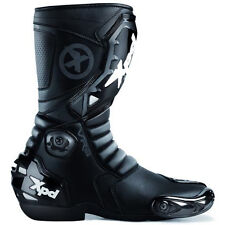 "SPIDI XPD VR6 MOTORCYCLE RACE ROAD TRACK BOOTS ""BLACK / BLACK"" SIZES 36 TO 46"
