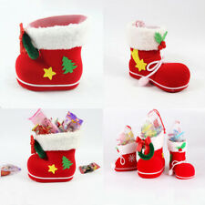 New Candy Boots Bag Christmas Tree Decoration Ornaments Red Stocking Kids Gifts