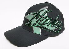 HURLEY CLEANER Hat FLEXFIT Black Green ($28) NEW Cap Surf Skate Ski ONE Classic
