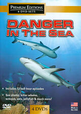 Danger in the Sea 4 DVD BOX $29 NEW! SHARKS ,WHALES,JELLYFISH,,ARCTIC OCEAN,4 HR