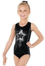 NEW Gymnastics Leotard 3 Sizes Girls S M L Mystique Foil Black Dance CS CM CL
