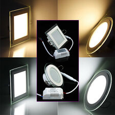 Dimmable 9W LED Panel Light Recessed Ceiling Bulb Downlight Round Square Lamp