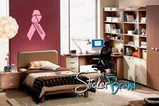Vinyl Wall Decal Sticker Breast Cancer Survivor Ribbon