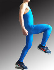 Man Long John Solid Wrestling Singlet Cycling Jersey Weight Lifting Tight outfit