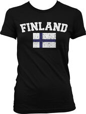 Finland Distressed Soccer Flag - Finnish Pride Suomi Juniors T-shirt