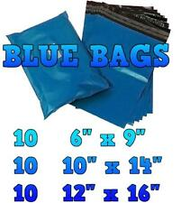 30 Blue Mailing Bags Mixed Sizes Postal Plastic Postage Mail Mailers Bags   KH01