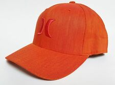 HURLEY SOUTH SIDE Hat FLEXFIT Orange ($30) NEW Cap Skate Surf CLASSIC ONE ONLY