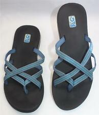 Teva Women's Mush Blue Black Polyester Thong Flip Flop Beach Sandals Sz 11 Shoes