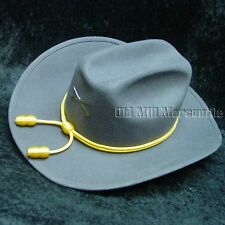 Confederate Rebel wool felt hat fully lined sizes 7 1/8-7 5/8 (M-XL)