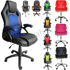 Luxury Faux Leather Office Furniture Computer Desk Gaming Sport Managerial Chair