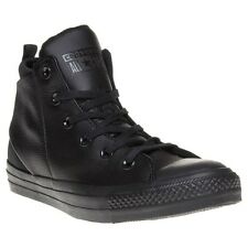 New Womens Converse Black All Star Sloane Monochrome Leather Trainers Hi Top