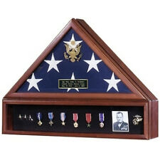 American Flag Case and Medal Display Case - Presidential Hand Made