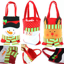 Christmas Santa Snowman Deer Gift Bag Candy Sweet Sack Stocking Filler Party