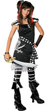 Rubies Drama Queens Scar-let Tween Pirate Costume Goth Halloween Party Kid Wench