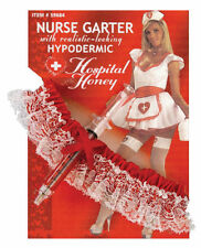 Hospital Honey Garter + Hypo Syringe Nurse Halloween Costume Accessory Sexy Cute