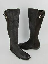 New Coach Lilac Women's Brown Leather Knee High Stretch Boots RTL $398