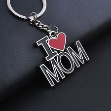 Fashion Creative Christmas Gifts Keychain I Love Father/mother Metal Keychain