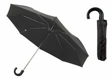 DRIZZLES COMPACT FOLDING UMBRELLA WITH SLEEVE IN BLACK