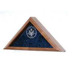 Glass Laser Engraved Flag Display Case Hand Made By Veterans