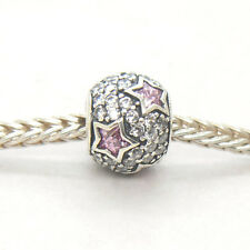 Genuine Authentic S925 Silver Follow The Stars Pink CZ Bead Charm