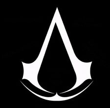 Assassin's Creed Symbol Vinyl Sticker Decal WHITE BLACK game 002