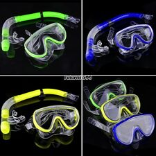 Swimming Pool Diving Equipment Anti Fog Goggles Scuba Mask Snorkel Glasses FT