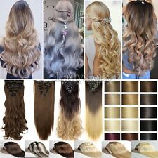 Hight Quality Hot 8pcs Full Head Clip in Hair Extensions for Human Lady Hair T8x