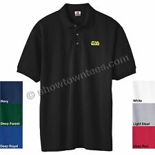 STAR WARS Logo in Yellow Embroidered Polo Shirt in 7 Colors in ALL Sizes