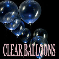 25 TO 100 Latex Balloons CLEAR BALLOONS LARGE RANGE OF COLOURS