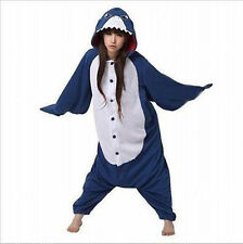 Kigurumi Shark Anime Cosplay Pyjamas Costume Hoodies Adult Onesie Fancy Dress+