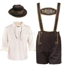 Bavarian Guy Oktoberfest Lederhosen German Beer Men Costumes Outfits Fancy Dress