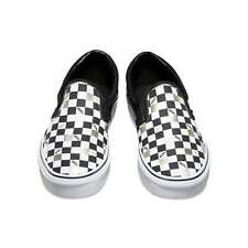 Vans 50th ANNIVERSARY Classic Slip-On Shoes (NEW) Black Gold Checkers  ALL SIZES