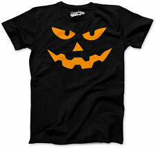 Youth Triangle Nose Pumpkin Face Funny Fall Halloween Spooky T shirt (Black)