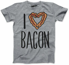 Youth Scented Ink I Heart Bacon Funny Bacon Smelling Breakfast T shirt (Grey)