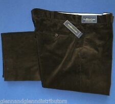 NWT Polo Ralph Lauren Preston Flat Front Corduroy Pants Slacks