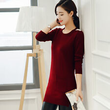 Women Long Sleeve Cardigan Knitted Sweater Jumper Outwear Bodycon Fashion