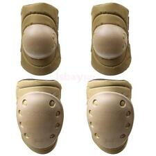 4 Pcs Tactical Protector Knee Elbow Pad Safe Guard for Skateboard Mountaineering
