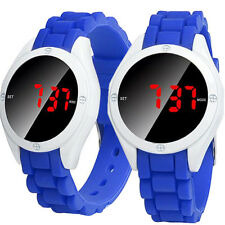Fashion Waterproof Men's LED Watch Touch Screen Date Silicone Sport Wrist Watch