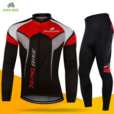 Team Men's Cycling Wear Long Sleeve Bike Bicycle Shirt Jersey Gel Pad Pants Set