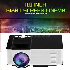 "180"" Portable 1500 Lumens 1080P LED LCD Projector HD Home Theater HDMI VGA AV"