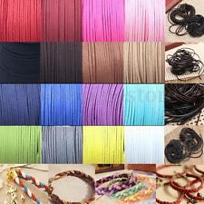1mm-4mm Leather Suede Craft Rustic String Ribbon Cord Tag Jewellery Bracelet 1mL