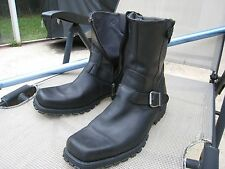 HARLEY DAVIDSON MENS BLACK LEATHER MOTORCYCLE BOOTS SIZE 11