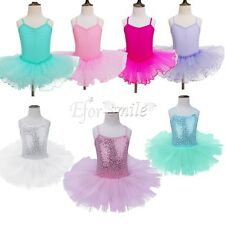 Toddler Girl Kid Gymnastics Dance Dress Ballet Tutu Skirt Leotard Dancewear 2-12