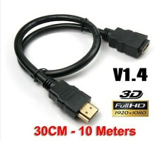 5M 3M 1.5M HDMI EXTENSION LEAD Male to Female v1.4 HD TV 4K Short Cable Cord AU